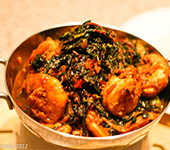 Fish OR Prawn Saag