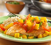 Mango Chicken with Rice