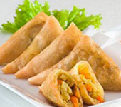 Vegetable Samosas (2 per serve)